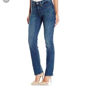Buckle Levi's 505 Dark Denim Straight Leg Jeans